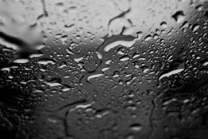 rain on glass